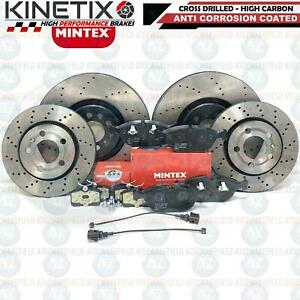 For Audi TT 3.2 VR6 Front Rear Drilled Performance Brake Discs Mintex Pads Wires