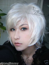 Death note/NEAR Cosplay Short Silver White Wigs/