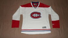 Montreal Canadiens White Reebok Womens Size Large NHL Hockey Jersey