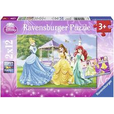 RAVENSBURGER puzzle 2 x 12 pièces DISNEY Les princesses dans le chateau NEUF