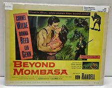 "Original Vintage Lobby Card ""Beyond Mombasa"" 1957"