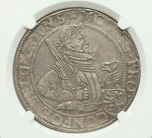 1621 OVERYSSEL PROVINCIAL RIJKSDAALDER NGC AU DETAILS (REVERSE SPOT REMOVED)