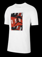 Nike Men's Air Jordan Classics T-Shirt Size Medium White/Black/Red CD5628-101