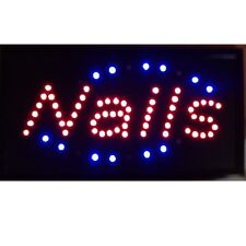 10*19 Animated Motion LED Nails SPA SIGN OnOff Switch Bright Open Light Neon