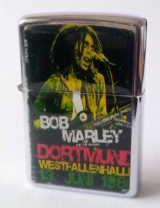 ZippO´n Metall Benzin Sturm Feuerzeug ~ Bob Marley Westfahlenhalle Dortmund
