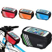 """Bicycle Cycling Bike Frame Front Tube Waterproof Mobile Phone Bag 5.0"""" Outdoor"""