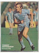 Tommy Hutchison Coventry City 1972-1981 Original Firmada A Mano Imagen De Corte