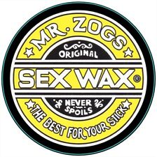 Circular Vinyl Sticker zogs sex wax surfing snowboarding laptop car decal surf 5
