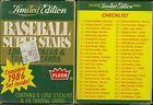 1986 Fleer Limited Edition BASEBALL SUPERSTARS Complete 44 Card Set RICKEY +++
