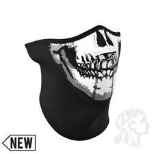 3 panel black white skull neoprene face mask Zan Headgear WNFM002H3 Biker ATV