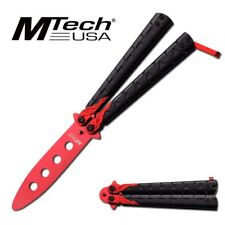 NEW! Mtech Black/Red Practice Butterfly Balisong Knife - NO BLADE