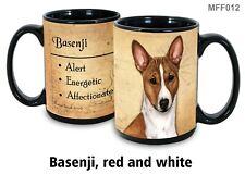 Basenji Dog Mug, 15 oz Black Coffee Mug, My Faithful Friend, Dog Lovers