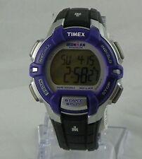 T5K812 TIMEX IRONMAN Chronograph Black Resin Strap INDIGLO 3 Alarm T5K8129J