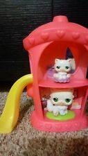 Authentic Littlest Pet Shop Angora Cat #15 White persian cat Mom And Baby Lps