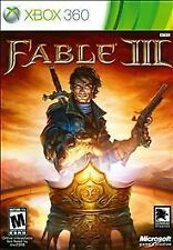 Xbox 360 FABLE III 3 Video Game New Sealed (not for resale version)      (A-0)