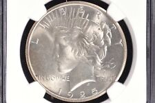 1925 Silver Peace Dollar NGC MS63