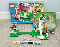 LEGO 3422 Shoot 'N Save Soccer Football Minifigs 100% Complete Box Instructions