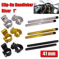 """41mm High Rise 1"""" Clip-on Handlebars For Honda Goldwing 1200 VFR750F VT VTR 1100"""