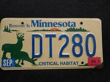 Minnesota Critical Habitat license plate