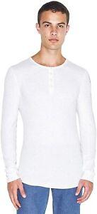 American Apparel Men's Baby Thermal Henley Long Sleeve T-Shirt