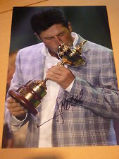 Signé José Maria Olazabal 12x8 Golf photo-Ryder Cup Legend-capitaine de 2012