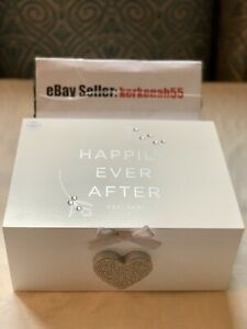 NEXT Chic Keepsake Box Est. 2021 Happily Ever After Married Wedding Heart ❤️Gift