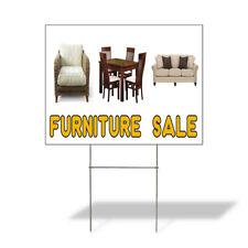 Weatherproof Yard Sign Furniture Sale Advertising Printing D Yellow Lawn Garden