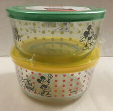 New Pyrex x Disney Decorated 4-Pc. Mickey Mouse 4 cup Food Storage Container Set