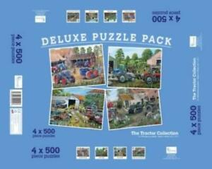 Deluxe Puzzle Pack The Tractor Collection 4 x 500 Pieces