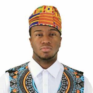 Traditional Kente Kofi Hat Black History Month Cap Kufi Hat Gold3 57 58 59 60 62