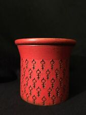Unusual Native American Art Pottery Jar Canister Container Symbology Signed