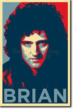 BRIAN MAY ART PHOTO PRINT (OBAMA HOPE PARODY) POSTER GIFT QUEEN