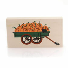 Cats Meow Village Pumpkin Wagon 1989 Wood Retired Halloween Fall 155