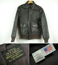 Vintage U.S. Goverment Water Buffalo Leather A-2 Flight Jacket sz 36