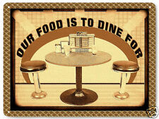 50's DINER METAL sign deli RESTAURANT deki vintage style KITCHEN wall decor 380