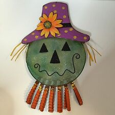 New Creative Glimmer Green Scarecrow Fall Halloween  Metal Screen Wall Decor