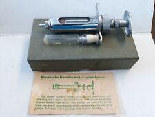 Vintage Stainless Ideal ID106 Veterinary 10CC Syringe & needle In Original Box