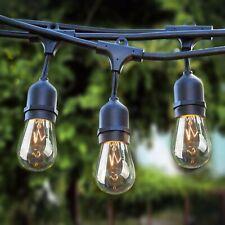 Sokani Patio Outdoor String Lights Weatherproof Commercial Grade Great 24FT/48FT