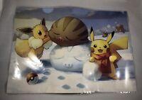 Pikachu Evee Swinub Pokemon Center Folder Winter Cute Exclusive Rare Japan New