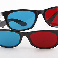 US_ Lightweight Red Blue Cyan Plastic Frame 3D Glasses for Anaglyph Movie Game M