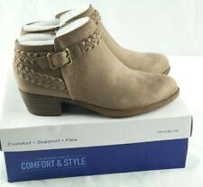 Lifestride Adriana Ankle Booties Womens Sz 6.5 Wide Mushroom Brown Shoes