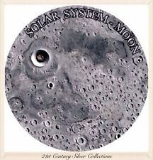 2015 Niue Moon with Meteorite Coin Solar System Series Niue 1 Oz