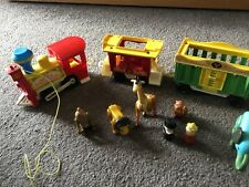 Fisher Price Vintage Play Family Circus Train Animals Collectable