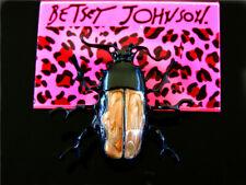 beetle Charm Woman Brooch Pin Betsey Johnson Pretty Enamel Lovely