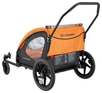 Schwinn Springbrook Two-Passenger Bicycle Trailer/Stroller,Orange/Black BOX DAMA
