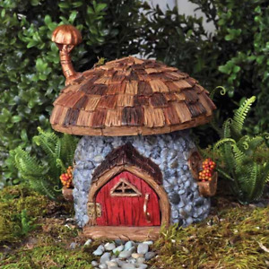 Elf House Mushroom Cottage Gnome Pixie Home Door Accessory