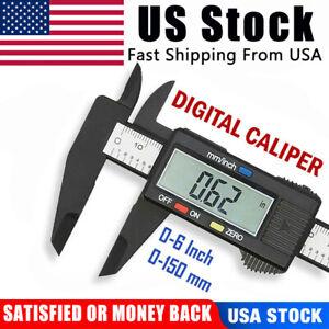 Digital Caliper Vernier Micrometer Electronic Ruler Gauge Meter Measuring Tool +