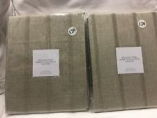 "2 Restoration Hardware Belgian Linen Sheer Tonal Stripe Drapes Panels 50""x120"""