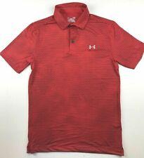 5b49db29 Under Armour Mens Small Heatgear Red Steel Golf Shirt Polo Standard Fit PGA