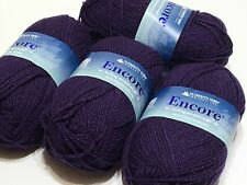 LOT OF 3 FULL & 1 PARTIAL SKEIN PLYMOUTH YARN ENCORE YARN  ~ COLOR #9806